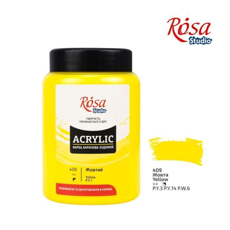 Фарба акрилова Rosa Studio 400 мл жовтий середній (4823086706811)