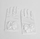 Детские перчатки белые вечерние, фото 2