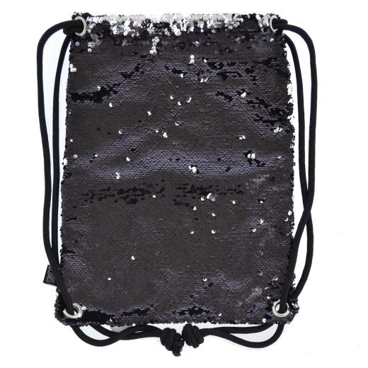 """Сумка-мешок """"Black Sequins """""""