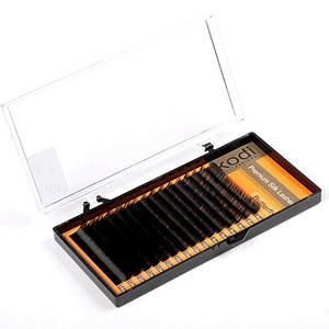 "Ресницы Kodi Professional ""Butterfly"" Natural Straight, 0.15 (16 рядов: 9-13мм.) черные"