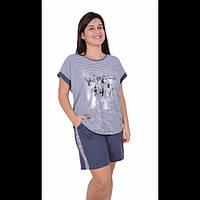 Женская пижама батальная футболка с шортами Nicoletta 2bca6ecde3c9d