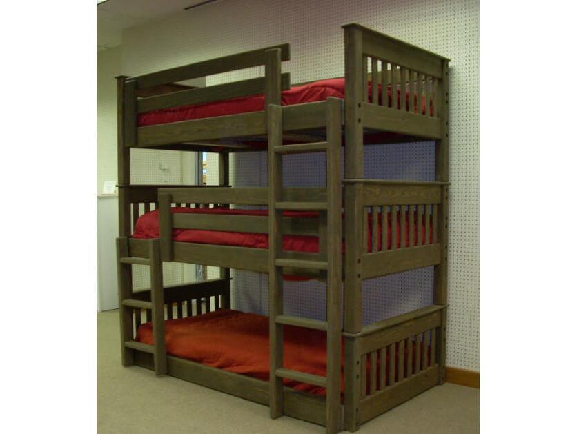 """Трехъярусная деревянная кровать """"Валдис"""""""