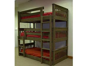 """Триярусна дерев'яна ліжко """"Валдіс"""""""