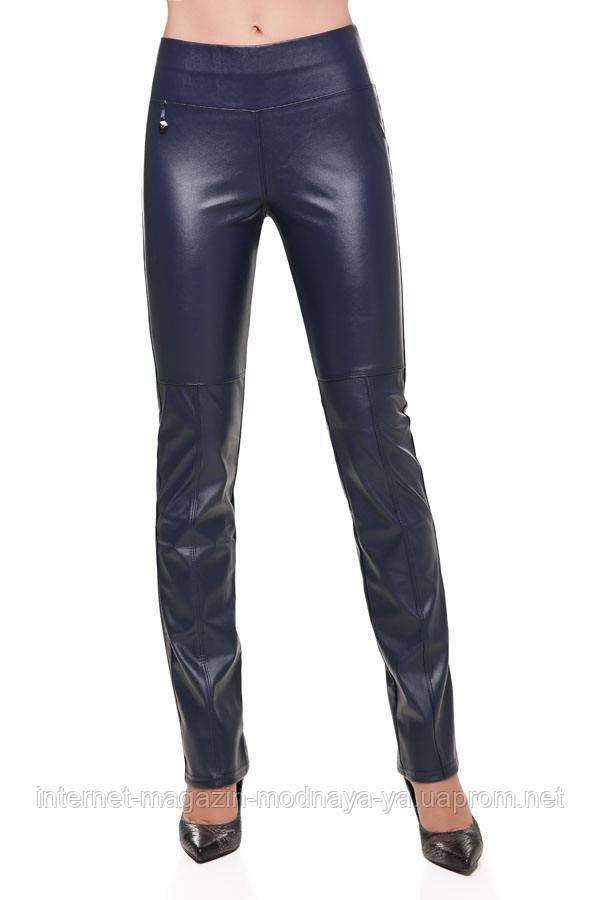 Кожаные брюки № 247 р. 40-50 синий