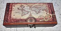 Шкатулка купюрница Карта миров