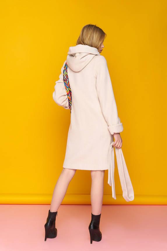 Женское шерстяное пальто с капюшоном демисезонное, фото 2
