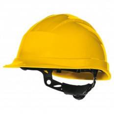 Каска защитная с вентиляцией Delta QUARTZ I желтая