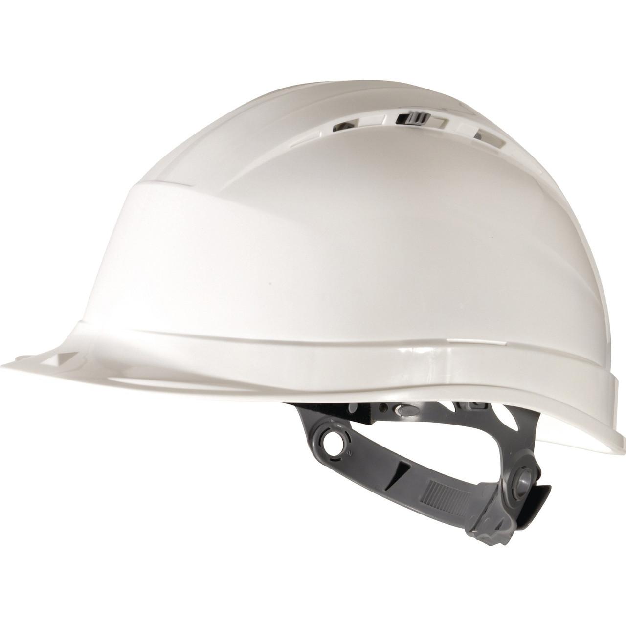 Каска защитная с вентиляцией Delta QUARTZ I белая