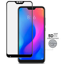Защитное стекло 5D Xiaomi Mi 8 Lite/Redmi Note 6 Чёрный