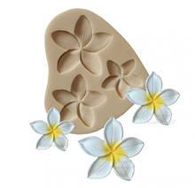 """Молд силиконовый """"Три цветка"""" - размер молда 9*8см"""