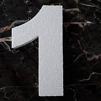 Цифра 1 (один) из пенопласта высота 15 см