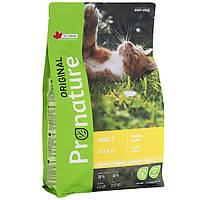 Pronature Original cat Chicken корм для взрослых кошек с курицей, 0.34 кг