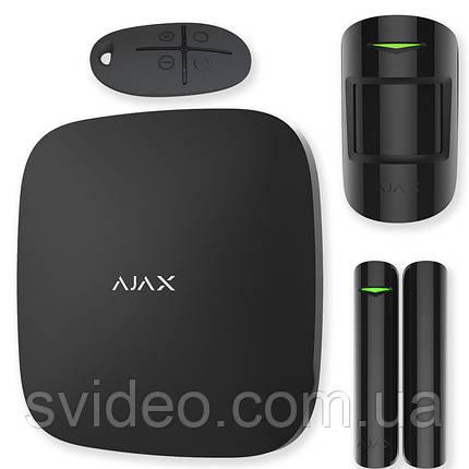 Ajax StarterKit Plus – Комплект беспроводной сигнализации с централью второго поколения – черный, фото 2