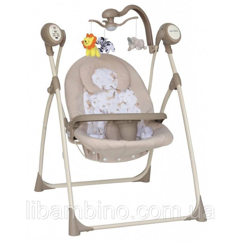 Дитяче крісло-качалка Baby Mix SW102RC + мобіль та пульт Beige