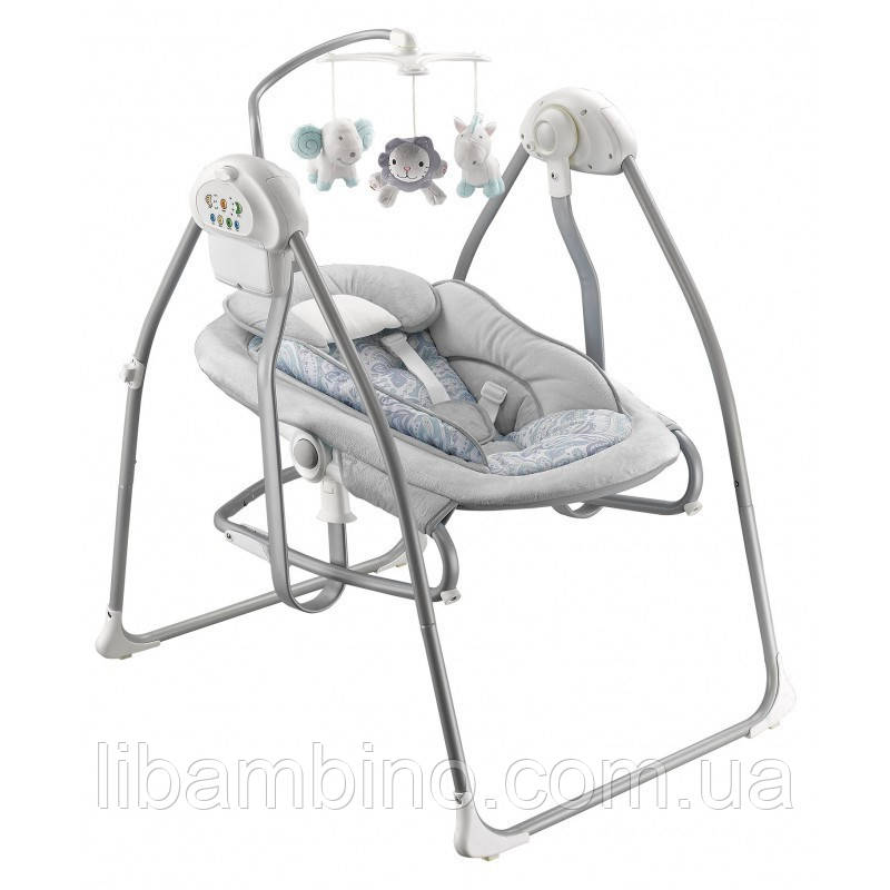 Дитяча качеля та лежак Baby Mix by020 Grey