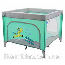 Дитячий універальий манеж Baby Mix HR-SQ100 100x100 Mint