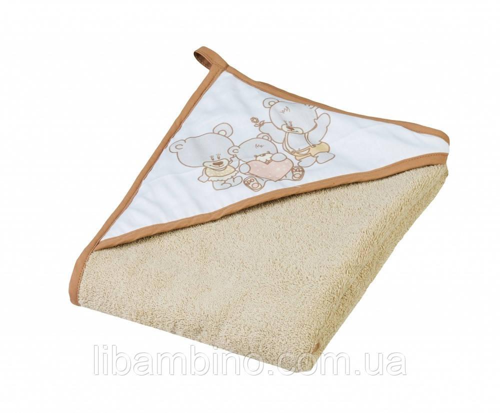 Дитячий м'який махровий рушник Tega Мишка 100x100 MS - 015 Beige