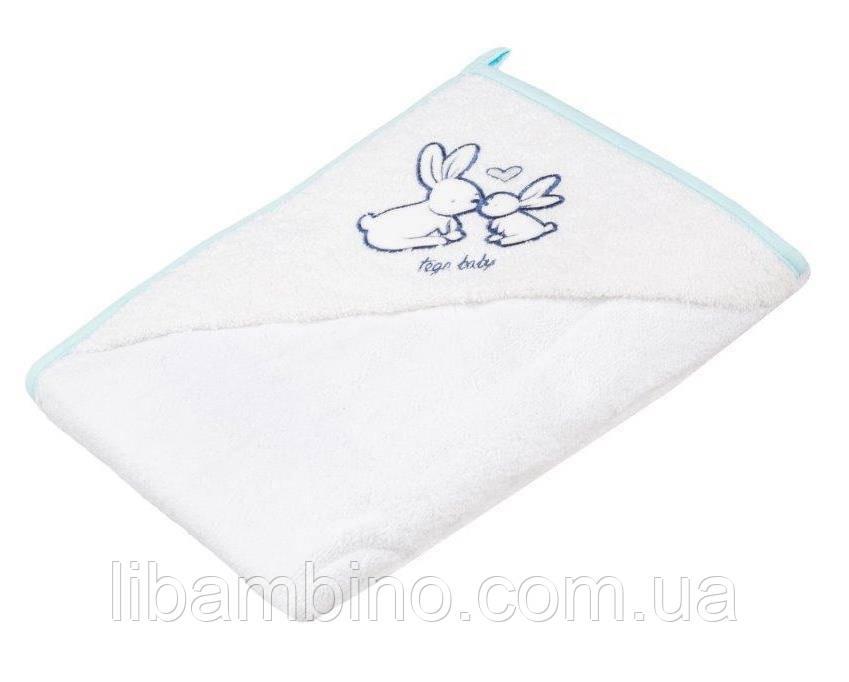 Дитячий м'який махровий рушник Tega Кролик 100x100 KR - 008 Mint