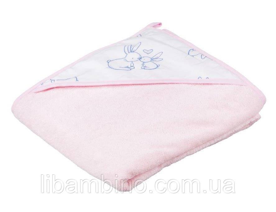 Дитячий м'який махровий рушник 100x100 KR - 008 Pink