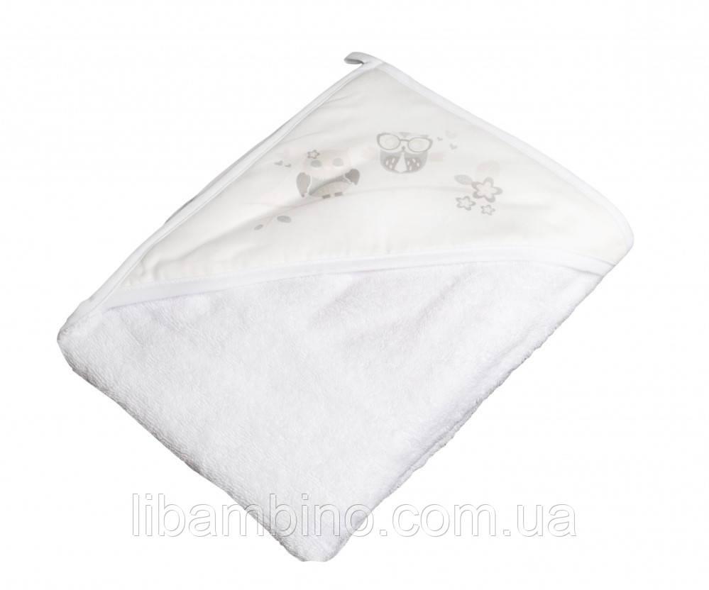Дитячий м'який махровий рушник Tega Сова 100x100 SO - 007 White