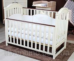 Дитяче ліжечко Twins I Love шухляда/маятник слонова кістка