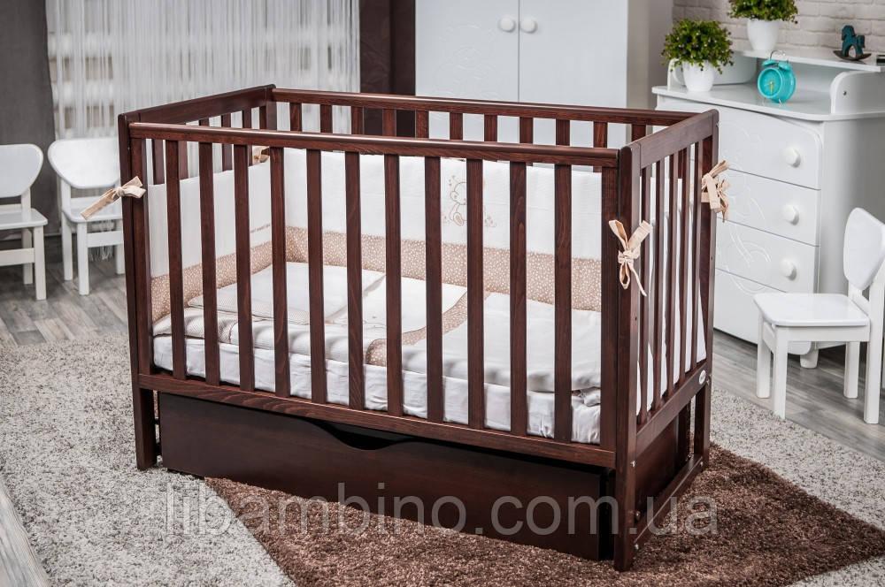 Дитяче ліжечко Twins Pinocchio шуфляда горіх