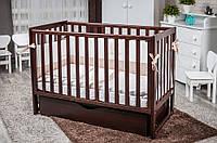 Дитяче ліжечко Twins Pinocchio шуфляда горіх, фото 1