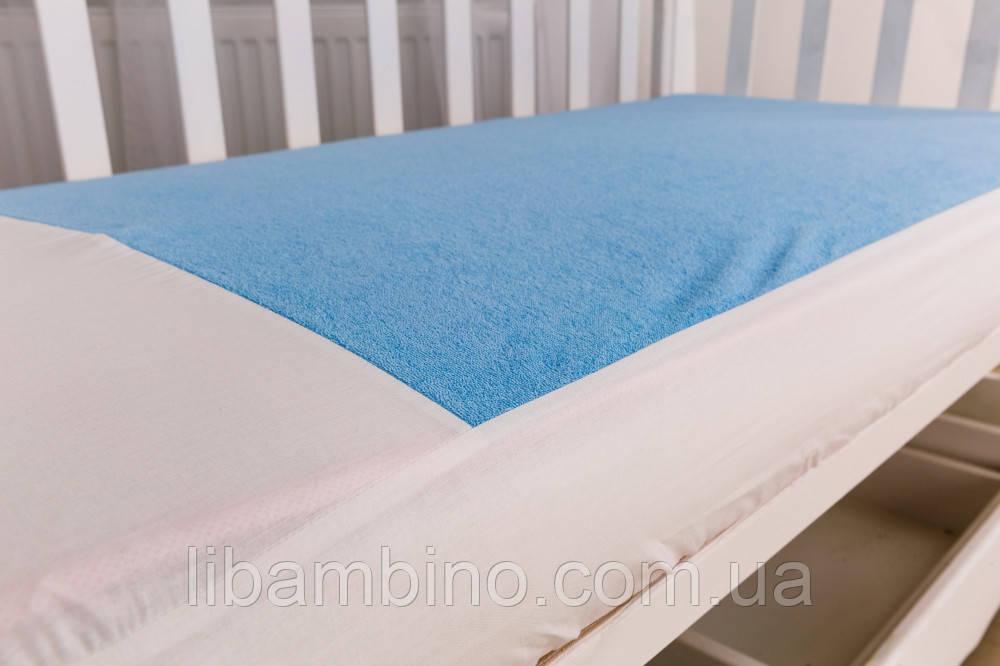 Наматрасник в ліжечко Twins на резинці Blue