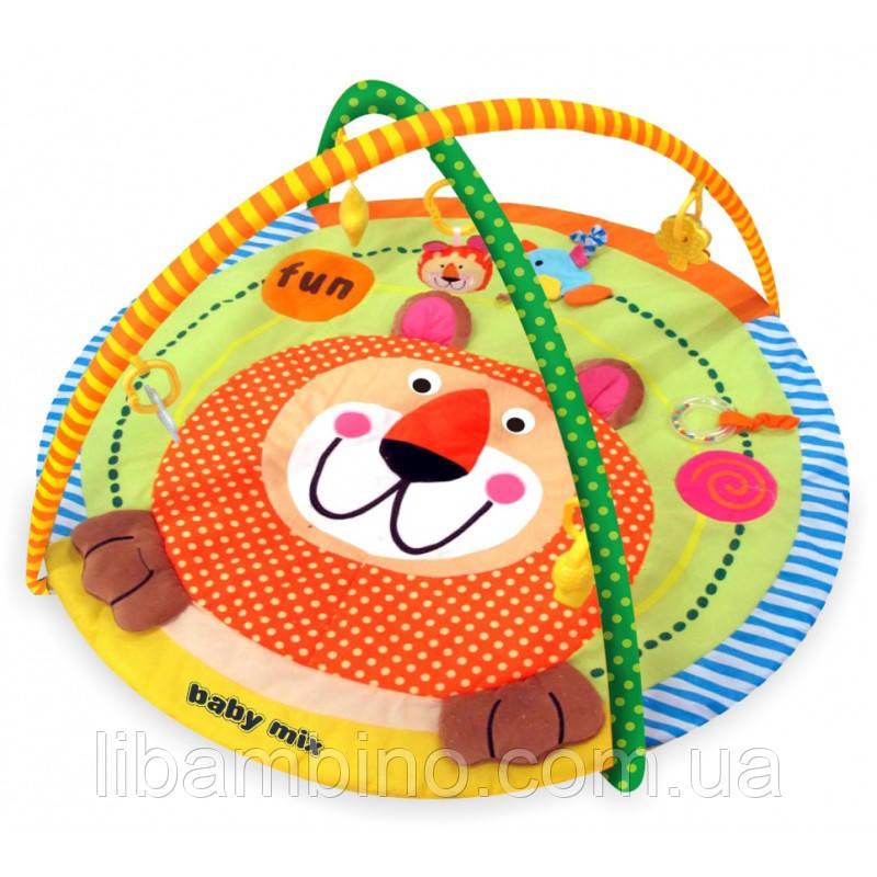 Дитячий ігровий розвиваючий коврик Baby Mix TK/3296С Лев