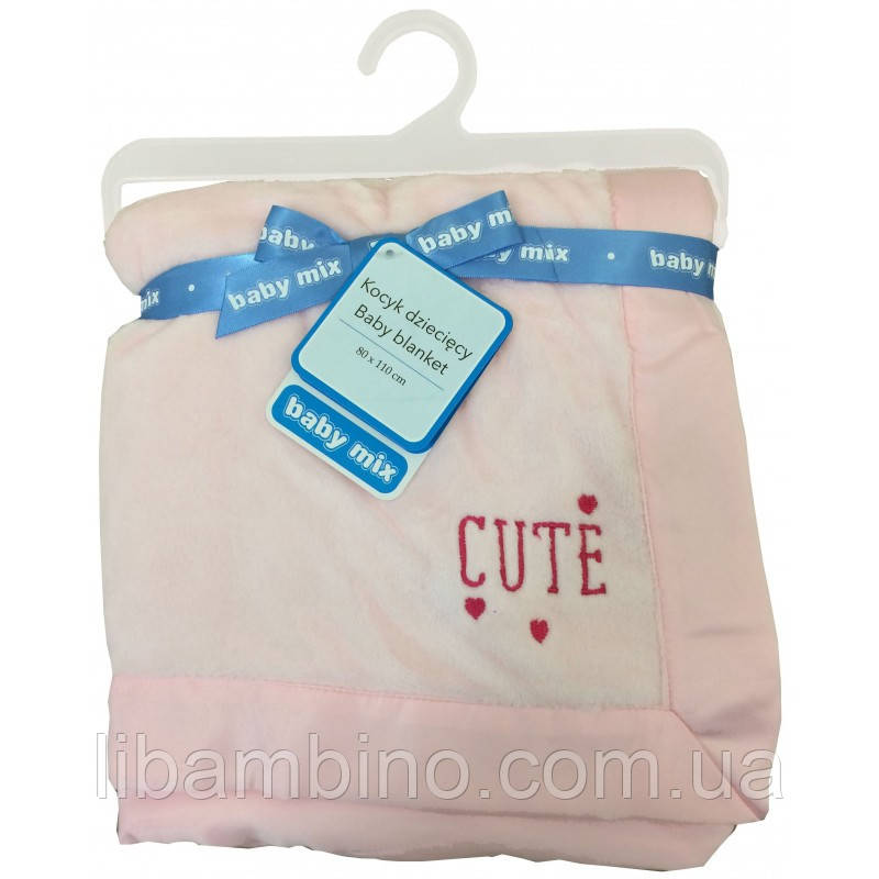 Плед Baby Mix SH-45550CL Pink