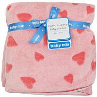 Плед Baby Mix SH-SR02 80x110 Сердечка pink