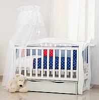Комплект дитячої постілі Twins Comfort 4 елементи бампер подушки multi