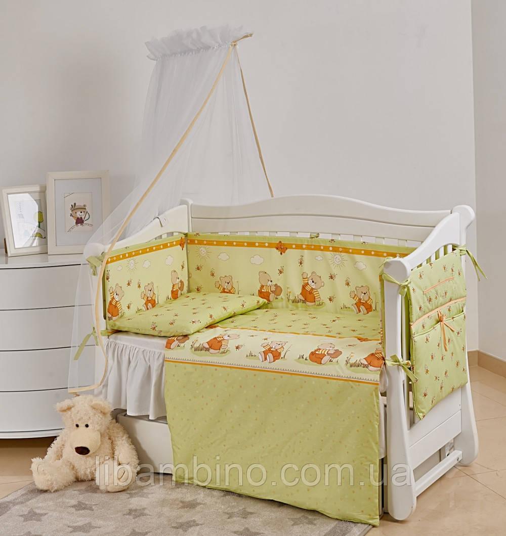 Комплект дитячої постілі Twins Comfort New Медуни 7 ел С-109 Green