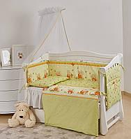 Комплект дитячої постілі Twins Comfort New Медуни 7 ел С-109 Green, фото 1