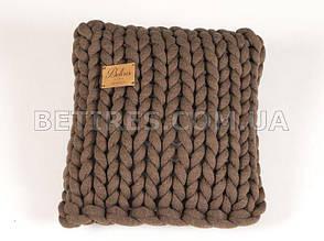 Подушка декоративна HANDMADE 7018 45х45см коричнева