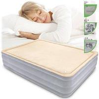 Надувная кровать двухспальная с встроенным насосом 203*152*46 см Bestway 67486