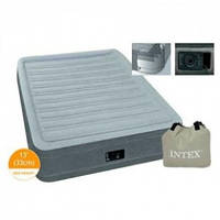 Надувная кровать двухспальная с встроенным насосом 203*152*33 см Intex 67770, фото 1