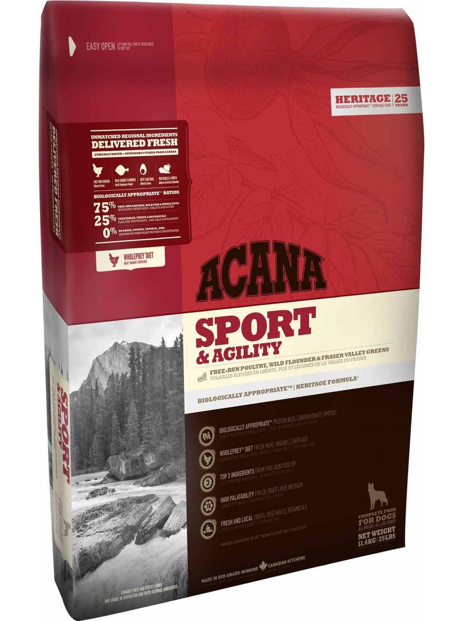 Сухой корм ACANA Sport&Agility для активных и спортивных собак всех пород, 11,4 кг