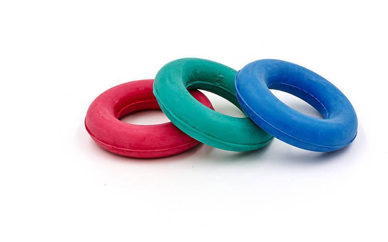 """Эспандер кистевой резиновый """"Кольцо"""" для тренировки рук, запястья, кисти (1 шт., d-1,5x7см, 20кг)"""