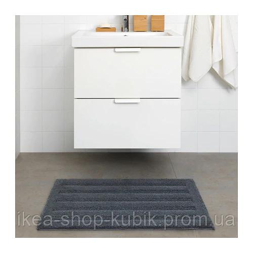ИКЕА EMTEN Коврик для ванной, темно-серый, 50x80 см 2