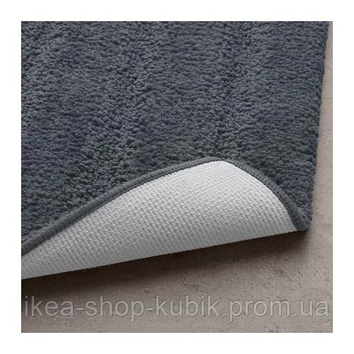 ИКЕА EMTEN Коврик для ванной, темно-серый, 50x80 см 3