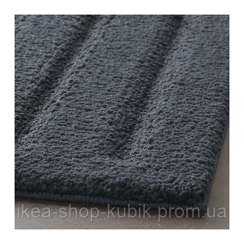 ИКЕА EMTEN Коврик для ванной, темно-серый, 50x80 см 4