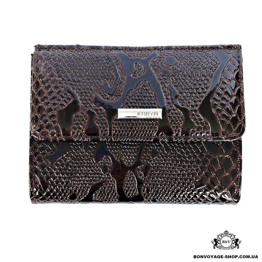 74efd0b3511b Женское портмоне кожаный Karya 1065-015 лаковый коричневый - купить ...
