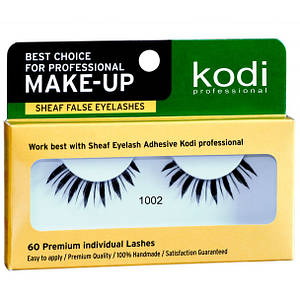 Накладные ресницы на ленте Kodi Professional №1002 черные