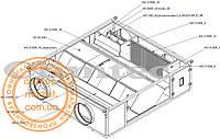 Промышленный рекуператор 1100 м3/ч