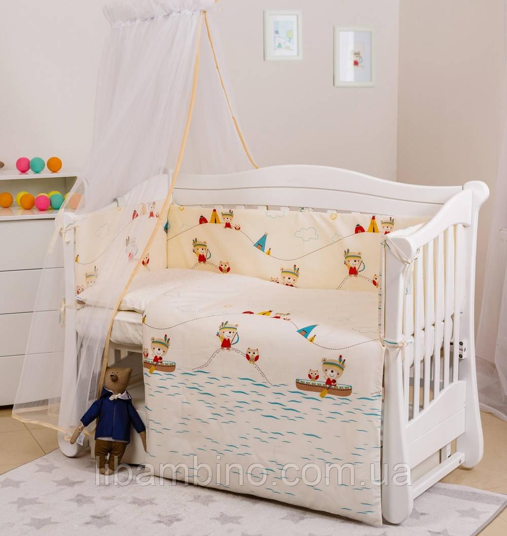 Комплект дитячої постілі Twins Eco Line 6 ел E-012 Indian Summer Blue