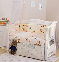 Комплект дитячої постілі Twins Eco Line 6 ел E-012 Indian Summer Blue, фото 1