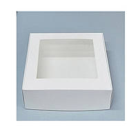Коробка для зефира с прозрачной крышкой 200*200*70