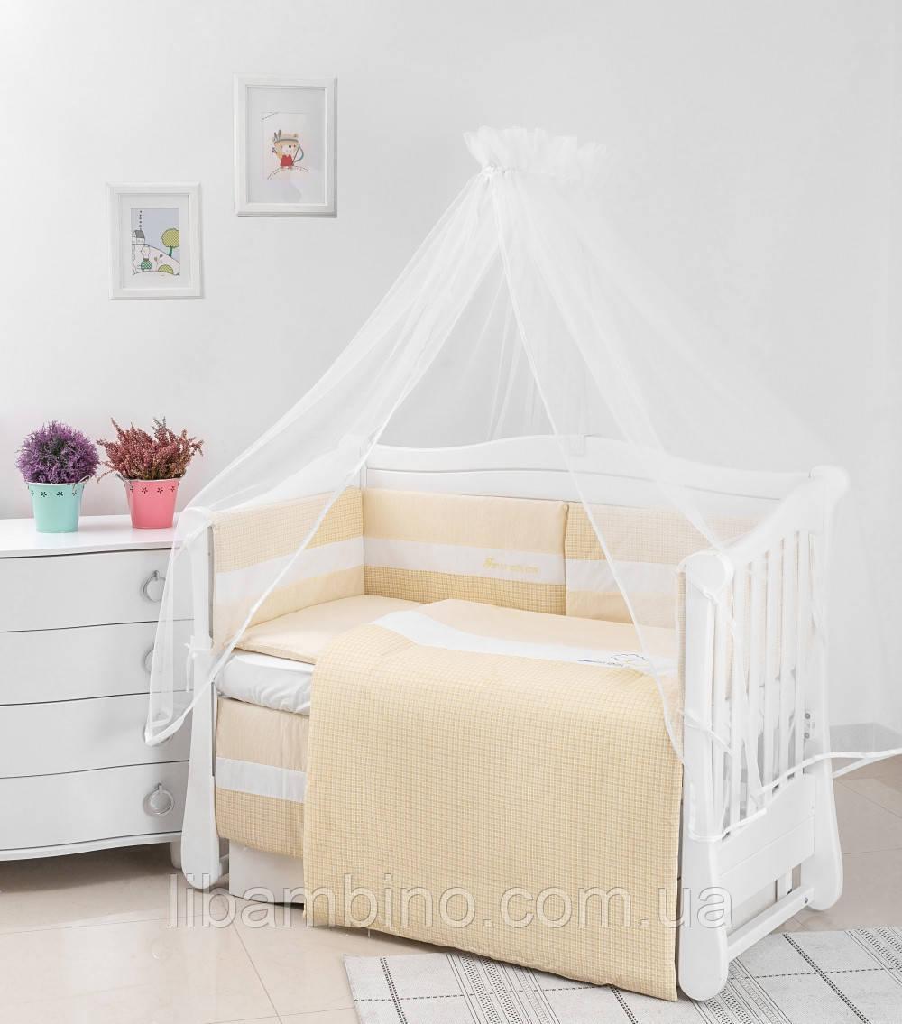 Комплект дитячої постілі Twins Evolution Хмарки 6 ел A-036 yellow