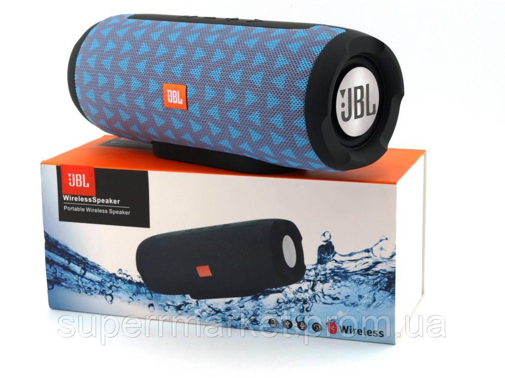 JBL Charge E11 10W копия, портативная колонка c Bluetooth FM MP3, серая голубым